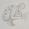 Zeichnung, Skulptur, Zeichenstudie, Zeichnungen