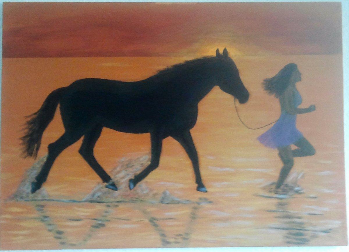 Auf pferd frau Flinders Petrie