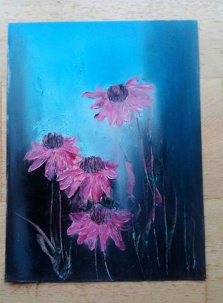 Ölmalerei, Abstrakt, Blumen, Malerei