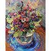 Malerei, Blumenstrauß, Blumen, Stillleben