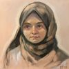 Menschen, Portrait, Mädchen, Malerei
