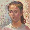 Ölmalerei, Portrait, Mädchen, Gesicht