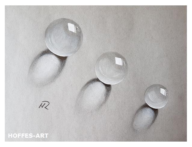 Bleistiftzeichnung, Zeichnung, Glaskugel, Zeichnungen, Schatten