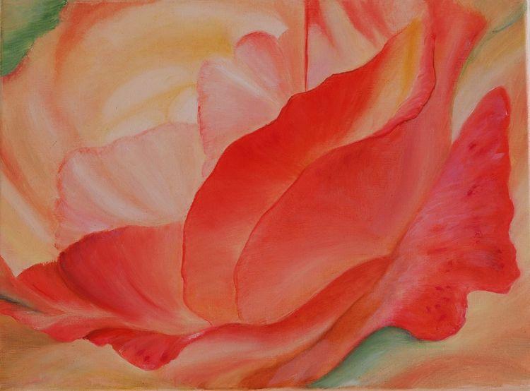 Natur, Rose, Garten, Pflanzen, Ölmalerei, Nostalgie