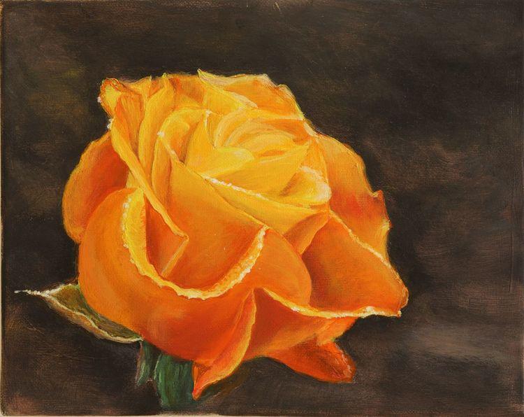 Blumen, Rose, Gelb, Malerei