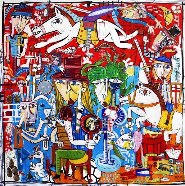 Ritter, Moderne kunst, Pferde, Soldat, Schlacht, Detailreich