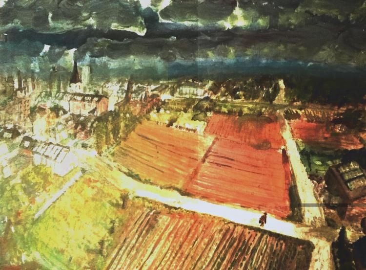 Geschichte, Landschaft, Comic, Acrylmalerei, Illustration, Gimp