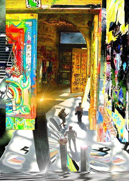 Farben, Digital, Fotografie, Traum, Fantasie, Kunstdruck