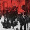 Aquatinta radierung, Abstrakt, Menschen auf suche, Straße