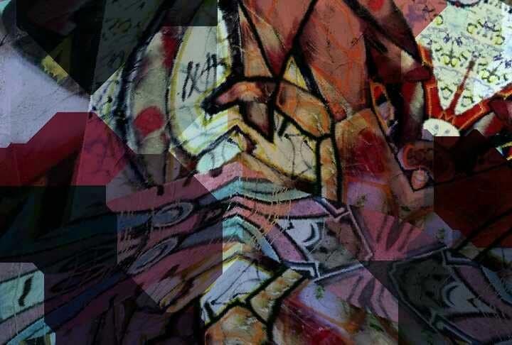 Bunt, Bschoeni, Graffiti, Abstrakt, Digitale kunst