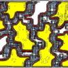 Abstrakt, Struktur, Gelb, Rot schwarz
