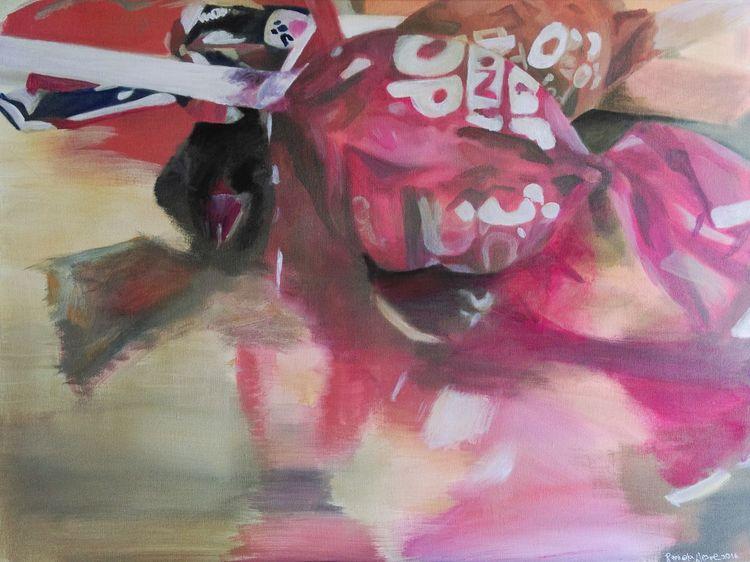 Bonbon, Bunt, Pink, Rosa, Spiegelung, Malerei