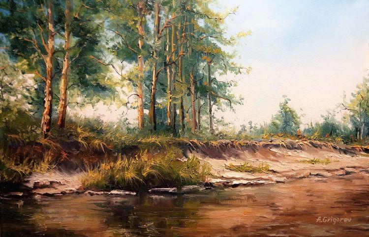 Malschule, Licht, Fluss, Landschaft, Sonne, Sommer