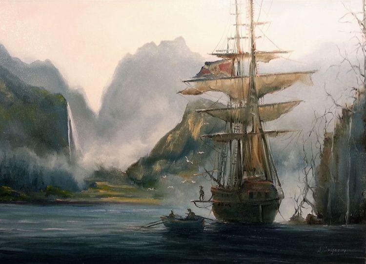 Licht, Fantasie, Pirat, Natur, Strand, See
