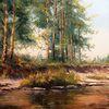 Wald, Malerei, Ölmalerei, Russland