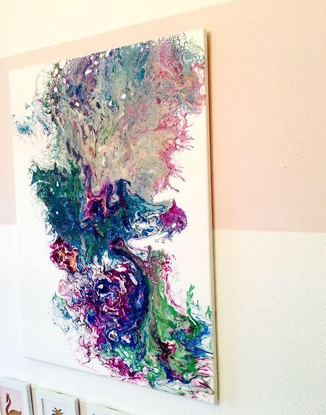 Mono, Abstrakt, Cells, Zelle, Fließ, Malerei