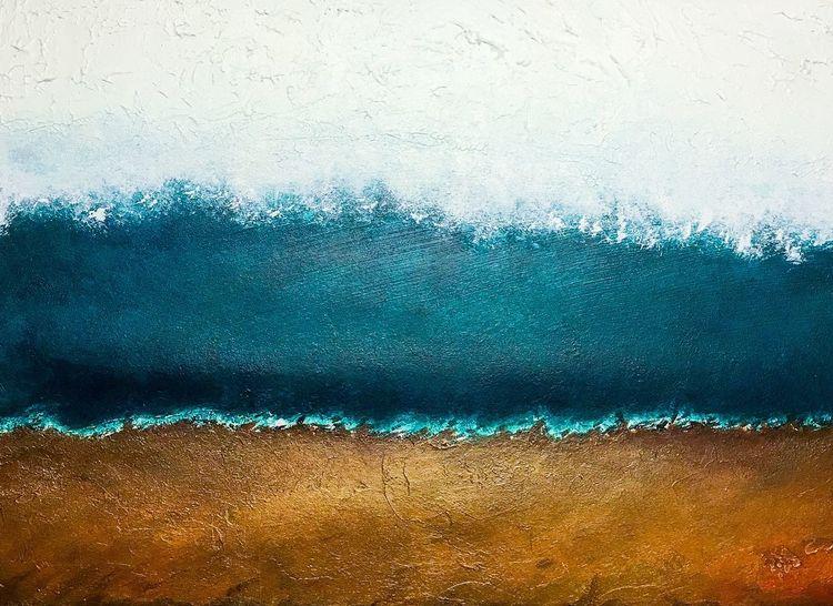 Spachtel, Abstrakt, Natur, Farben, Mono, Malerei