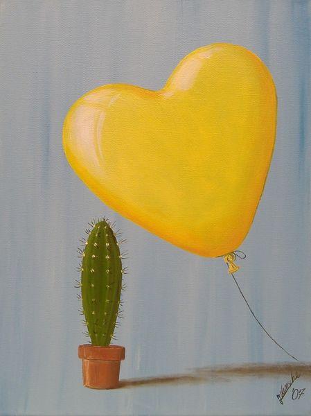 Kaktuy, Herz, Ballon, Malerei