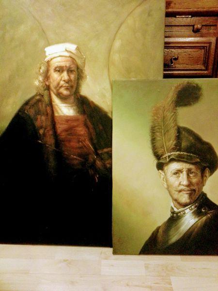 Studie, Rembrandt, Portrait, Malerei