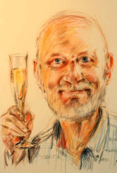 Prost, Prosit neujahr, Portrait, Zeichnungen, Neujahr,