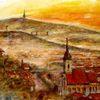 Panorama, Sonnenaufgang, Stadtansicht, Pressburg