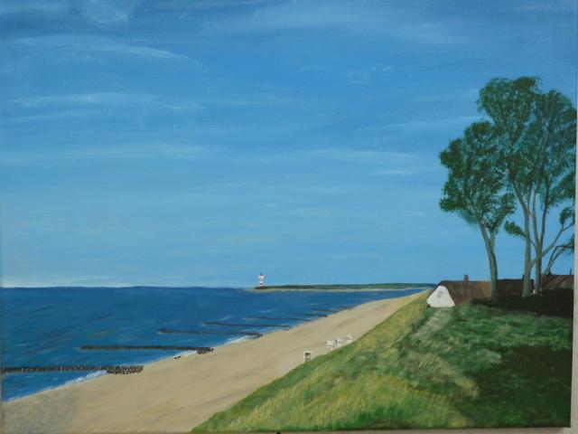 Wasser, Meer, Natur, Landschaft, Malerei, Ostsee