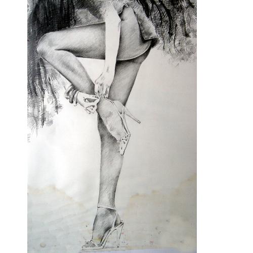 Felsen, Frau, Mädchen, Bein, Mode, Portrait