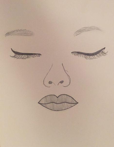 Kohlezeichnung, Gesicht, Schwarz weiß, Zeichnung, Augen, Frau