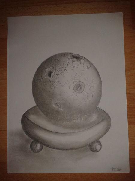 Kugel, Bleistiftzeichnung, Zeichnung, Geometrie, Zeichnungen