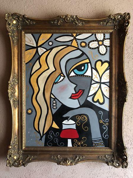 Malerei, Design, Liebe, Abstrakt, Menschen, Frau
