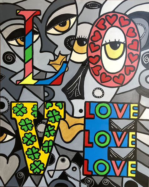 Malerei, Menschen, Blumen, Liebe, Mann, Körper