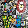 Malerei, Menschen, Liebe, Blumen