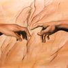 Berührung, Ölmalerei, Hände, Malerei