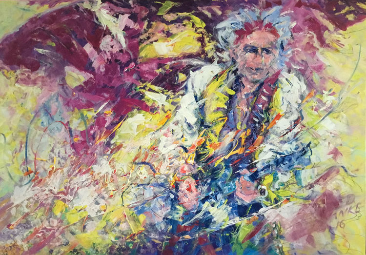 Keith richards, Gitarrensolo, Rolling stones, Malerei