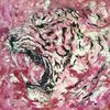 Pink, Acrylmalerei, Malerei, Tiger