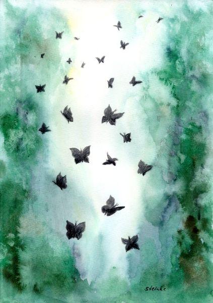 Spirituell, Natur, Leichtigkeit, Schmetterling, Fantasie, Kreislauf