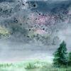 Salz, Aquarellmalerei, Wiese, Landschaft