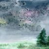 Wiese, Salz, Aquarellmalerei, Feld