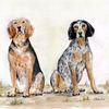 Aquarellmalerei, Hund, Tiere, Zeichnung