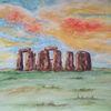 Stein, Stonehenge, Steinkreis, Landschaft