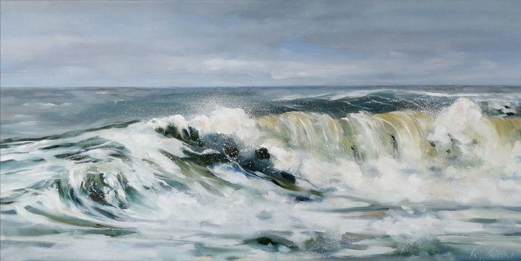 Himmel, Friesland, Welle, Wasser, Landschaftsmalerei, Insel
