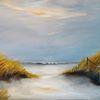 Strand, Landschaftsmalerei, Schatten, Insel