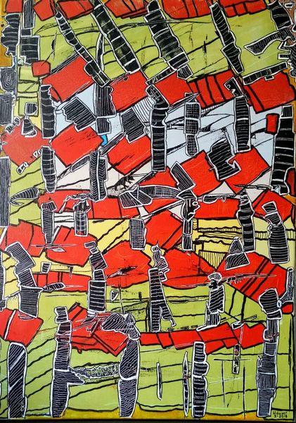 Abstrakte figuren, Experimentell, Verspielen, Malerei