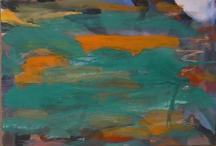 Orange, Informel, Grün, Abstrakte malerei, Abstrakter expressionismus, Malerei