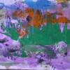 Abstrakte malerei, Informel, Abstrakter expressionismus, Grün orange blau