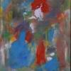 Abstrakter expressionismus, Wild, Blau rot, Deformiert