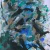Informel, Abstrakte malerei, Abstrakter expressionismus, Grün schwarz