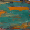 Abstrakte malerei, Abstrakter expressionismus, Grün, Orange
