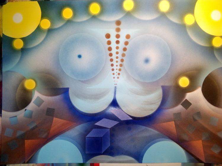 Abstrakt, Malerei, Pinsel