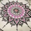 Selbstdesign, Schwarz, Pink, Mandala